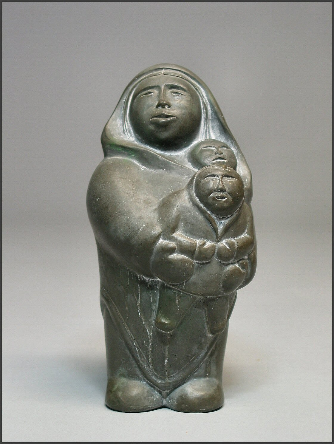 inuit mother and children figure rand african art