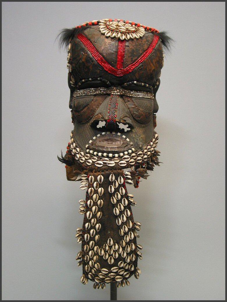 Kuba Bwoom Helmet Mask DR Congo African |.