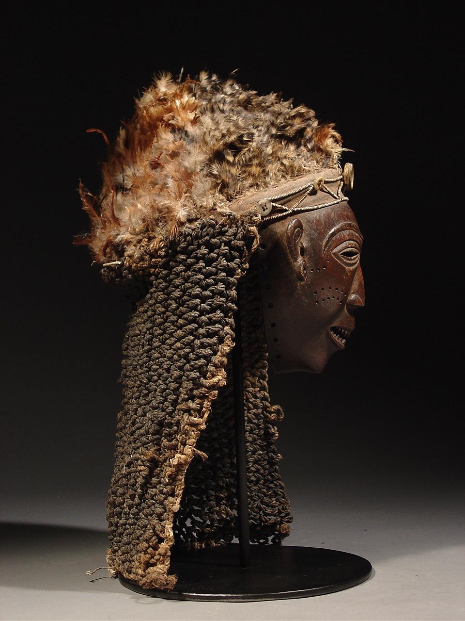 D Exhibition Zambia : Luvale lwena mwana pwevo mask rand african art