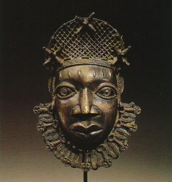 Benin bronze hip masks and